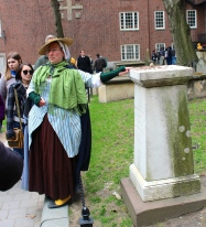 Guide at Granary Burial Ground, Boston