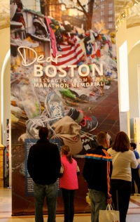 Boston Public Library memorial exhibit