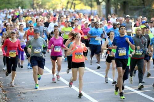 Runners in Boston