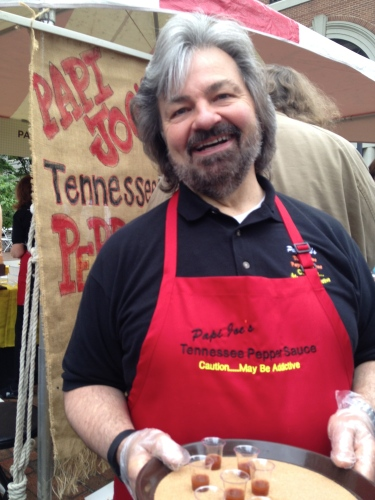 """It's a religious experience,"" says Papi Joe's Tennessee Pepper Sauce volunteer."