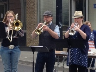 Brass trio from Band of Awesome