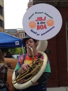 Tuba player: Jimmy Brown Johnson & the Band of Awesome