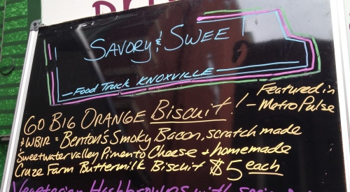 Go Big Orange Biscuit from Savory & Sweet food truck