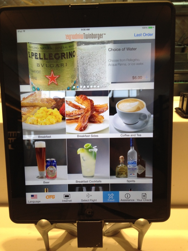 Ordering from an iPad at MSP