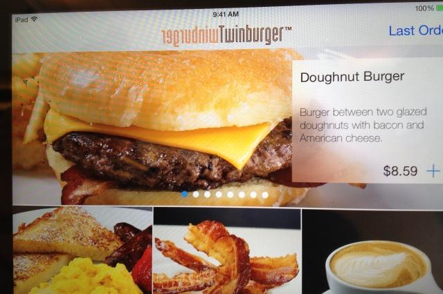 Doughnut burger at Twinburger