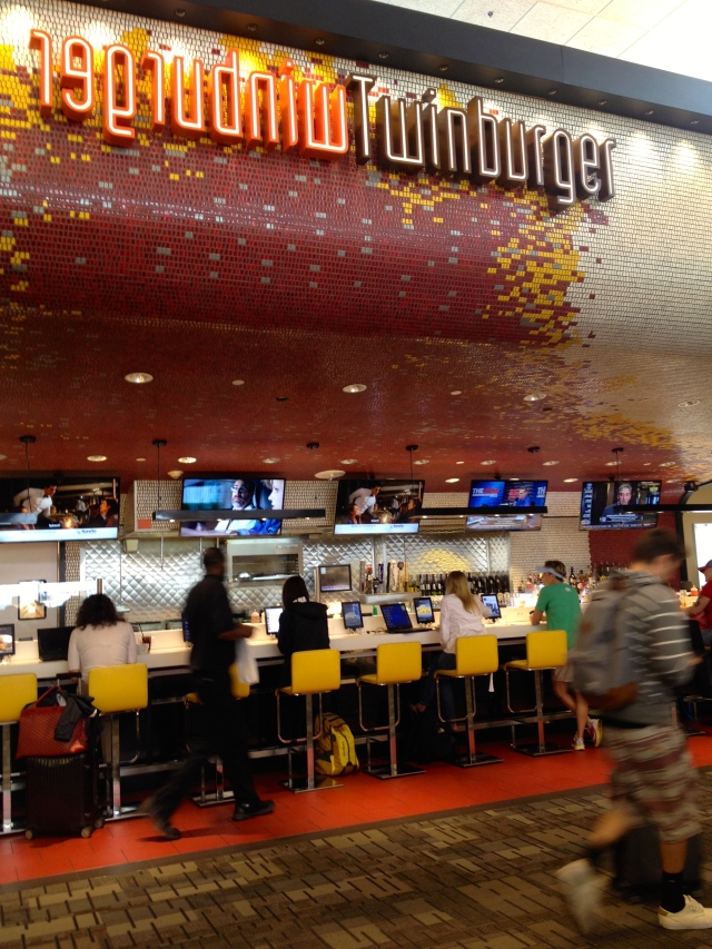 Twinburger counter at Terminal G, MSP