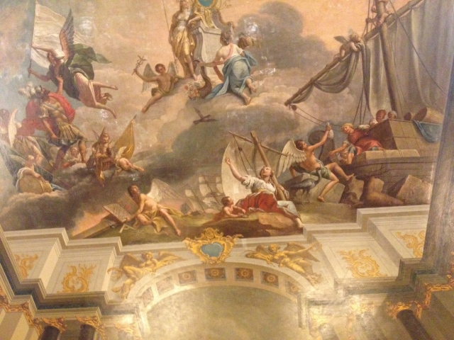 Exquisitely detailed ceiling panel, Catherine Palace.