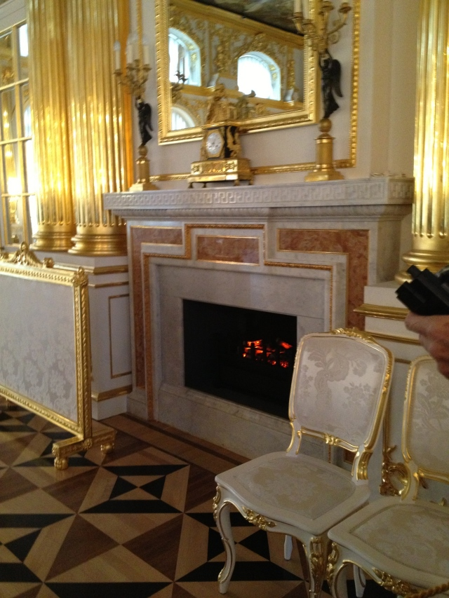 Interior furnishings and inlaid flooring, Catherine Palace, Russia