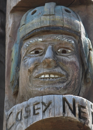 Detail, Codger Pole, Colfax, Washington