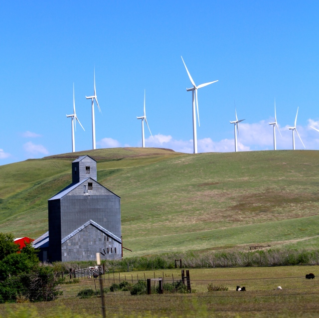 Contrast of old and new:  The Palouse
