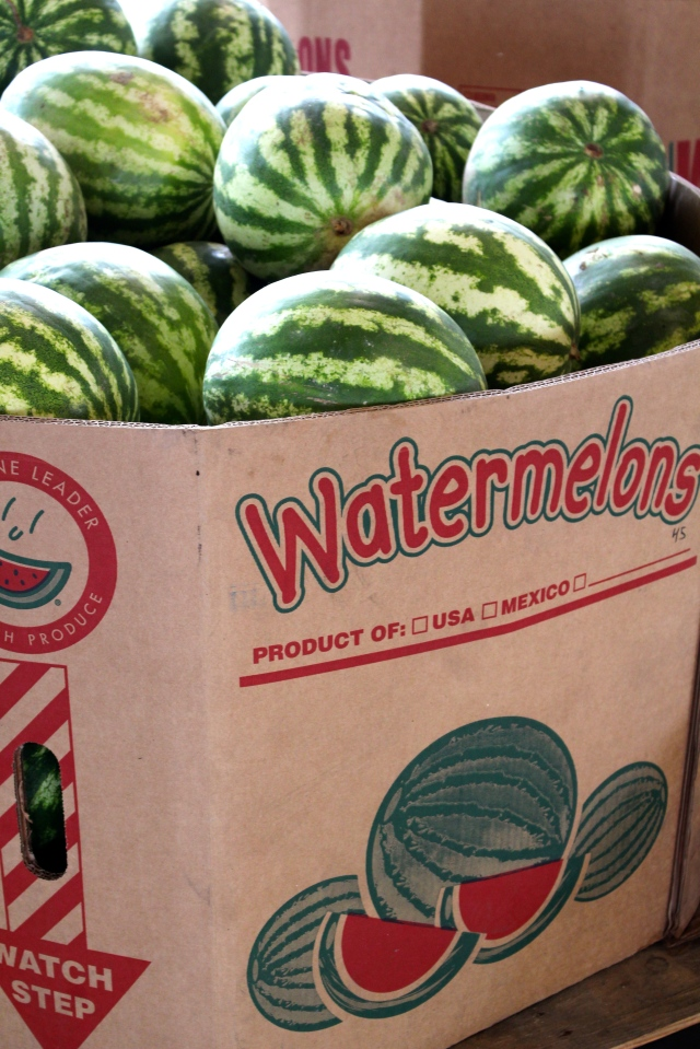 Box of watermellons, SC