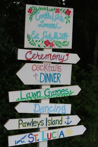 Sign for wedding party