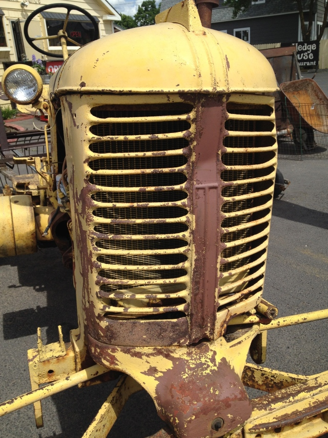 Old, rusty tractor