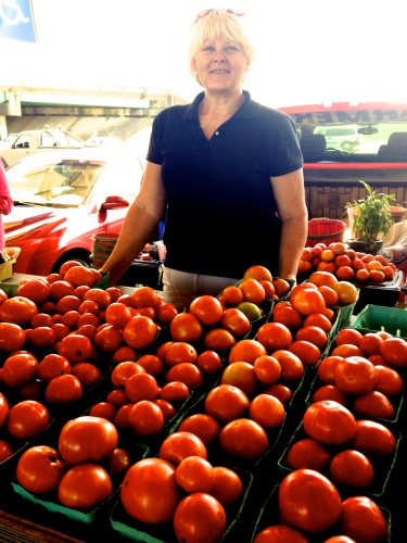 Tomatoes at Decatur AL Farmers Mkt