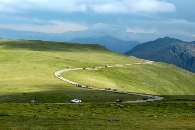 Winding road, Rocky Mtn. Nat. Park