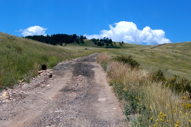 Dirt road to Prairie Divide
