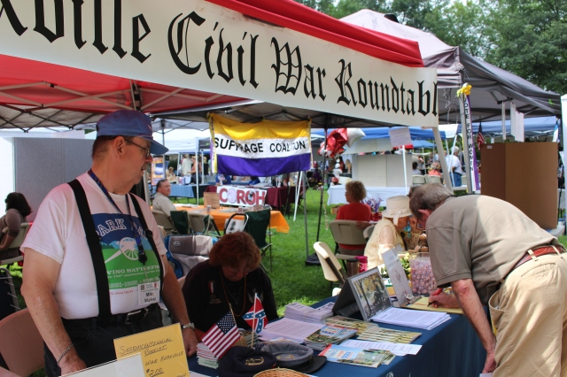 Knoxville Civil War Roundtable booth at East Tennessee History Fair