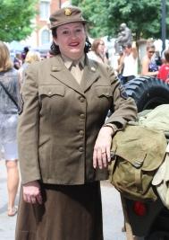 Karen Livingston portrays WWII WAC