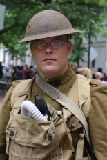 Kelly Ford in WWI attire he personally refurbished
