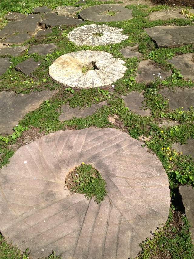 Three old millstones