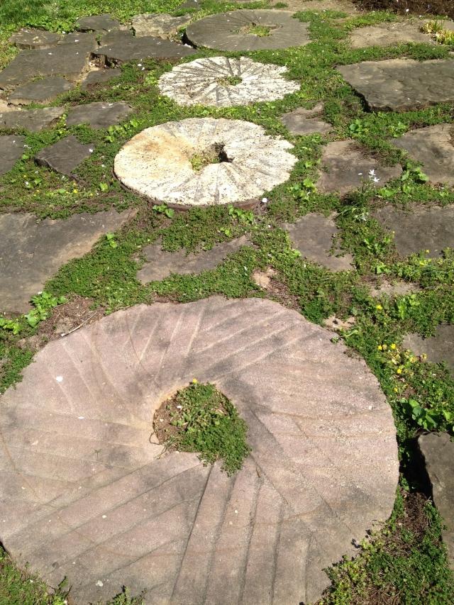 Three old millstones