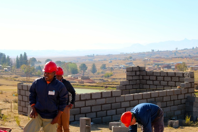 Habitat build site, Lesotho
