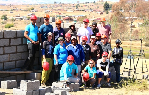Global Village team in Lesotho