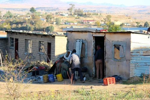 Current home of family in Lesotho.