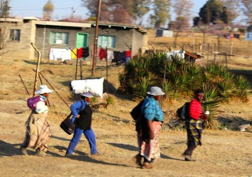 Street scene in Lesotho