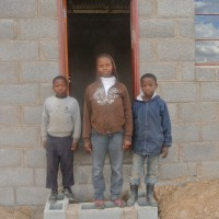 Welcome news from Lesotho:  Habitat house is complete!