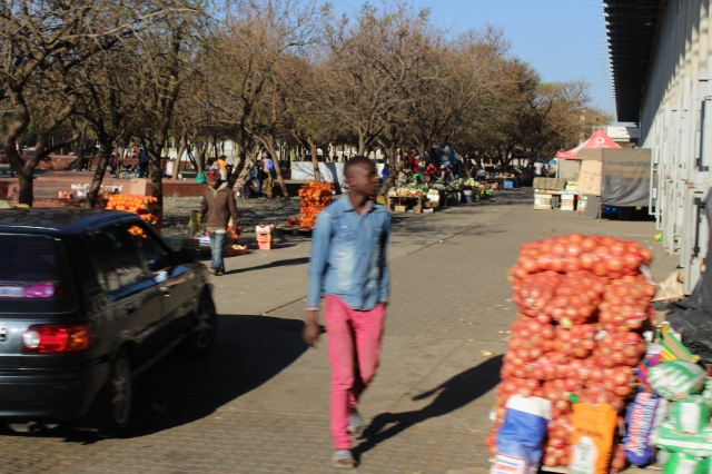 Bags of fruit in Soweto