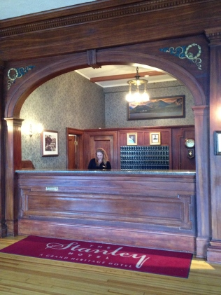 Reception desk, The Stanley Hotel