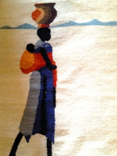 My tapestry from Setsoto Design in Lesotho, woven by Maggie