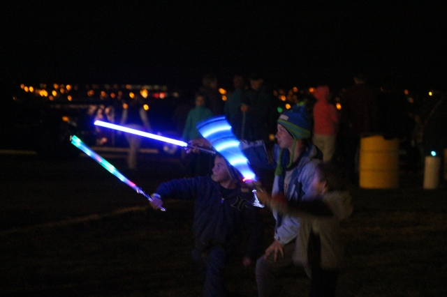 Children with light sabers