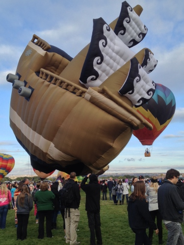 Not flying at Balloon Fiesta 2014