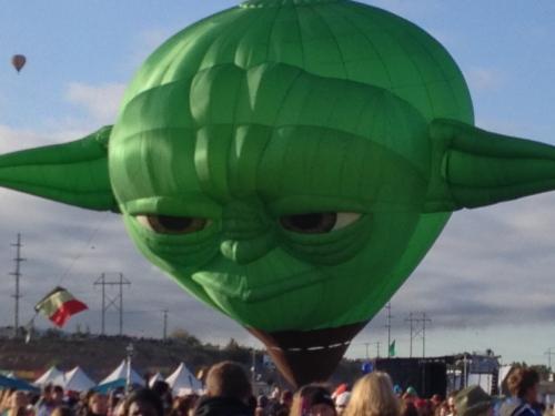 Yoda balloon at Balloon Fiesta 2014