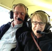 Flying over Lake Coeur d'Alene
