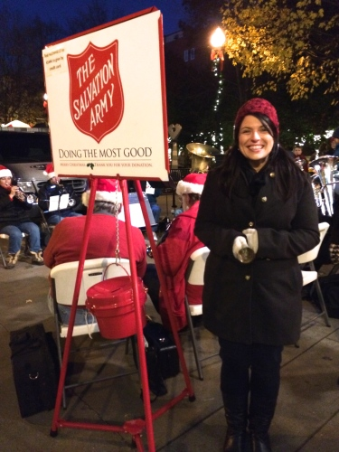 Ringing the bell for Salvation Army, Knoxville.