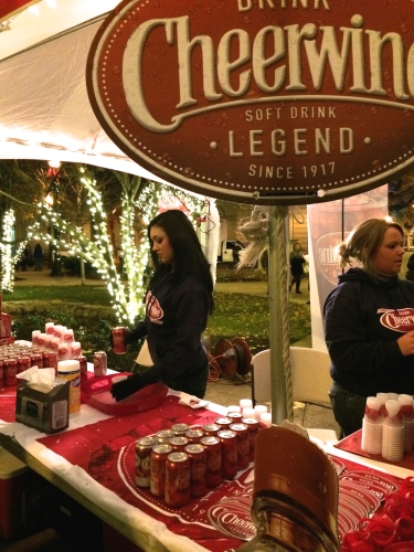 Free samples of Cheerwine