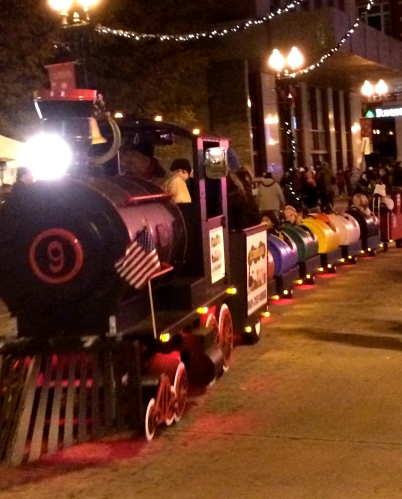 Holiday train, Gay Street, Knoxville
