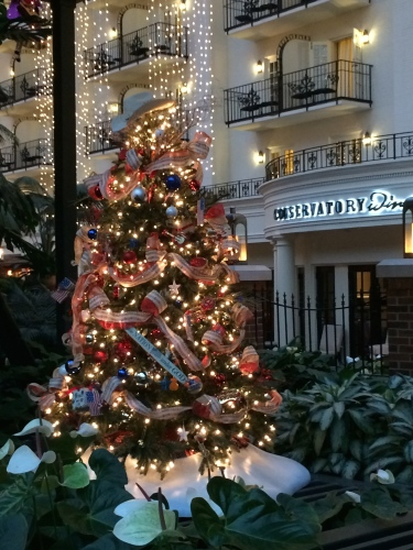 Colorfully decorated trees seem to be everywhere at Gaylord Opryland Resort!