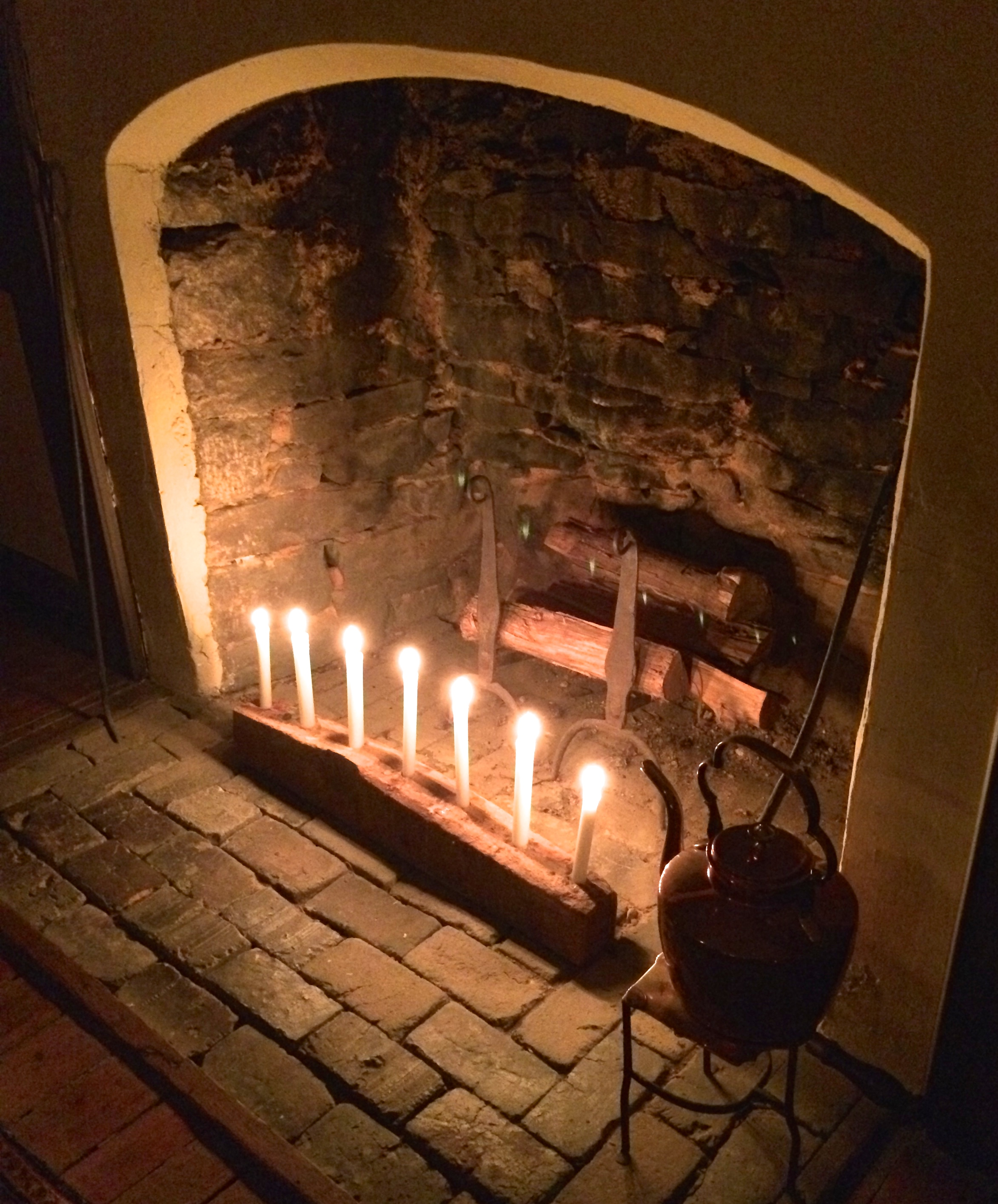 Seeing light even in the dark candlelight tour at for Ramsey fireplace
