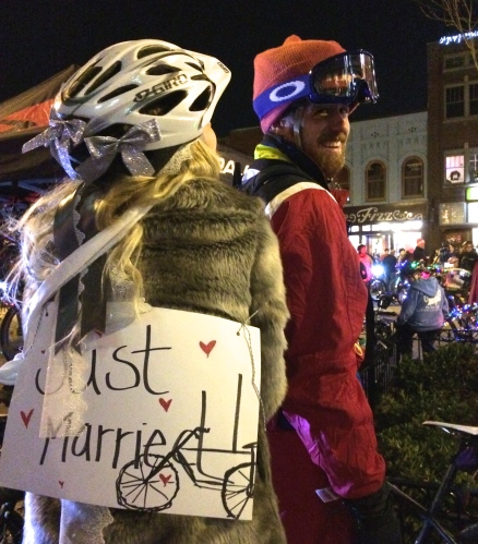 Just married couple -- Knoxville's Tour de Lights