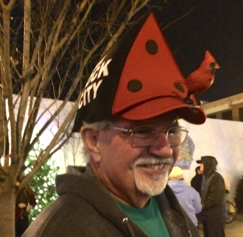 See Rock City birdhouse hat -- Tour de Lights 2014