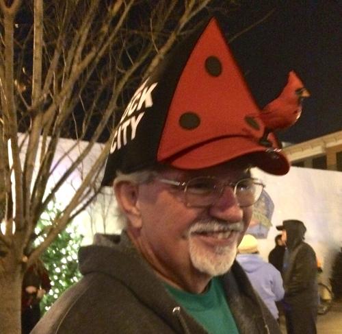 See Rock City birdhouse hat -- Tour de Lights 2014