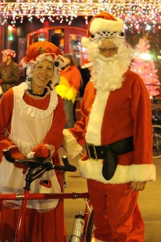 Santa and Mrs. Claus, Tour de Lights 2014