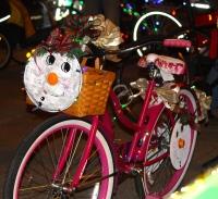 Snowman bike -- Knoxville's Tour de Lights 2014