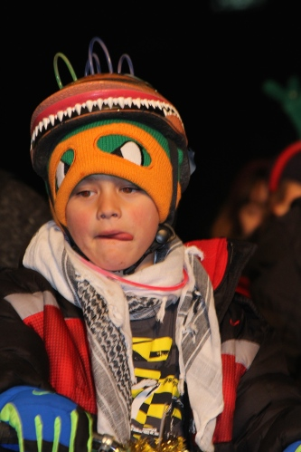 Puzzled kid at Tour de Lights 2014