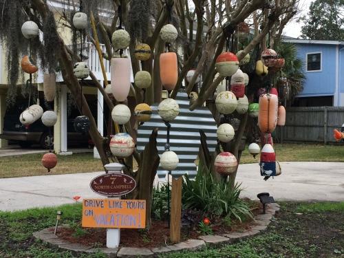 Yard art at Tybee Island
