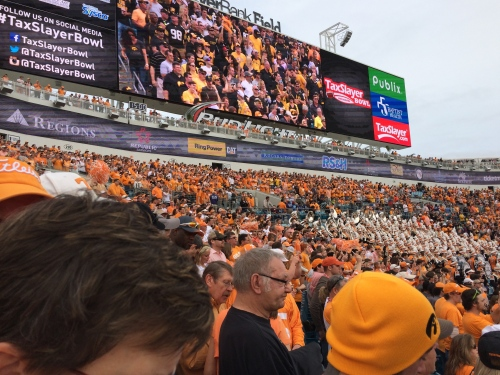 Volunteer fans -- TaxSlayer Bowl